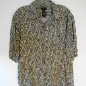 Mens Claiborne Rayon Olive Green Shirt LGL